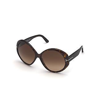 Tom Ford Terra TF848 52F Dark Havana/Brown Gradient Sunglasses