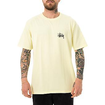 Men's t-shirt stussy basic stussy tee pale yellow 1904649.yellow