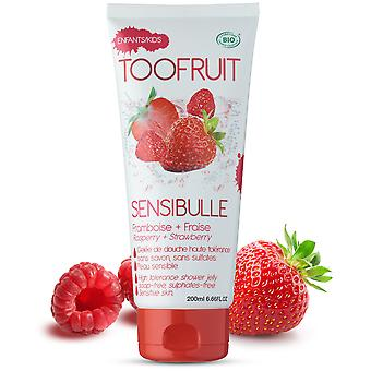 Toofruit Strawberry and Raspberry Shower Gel 200 ml