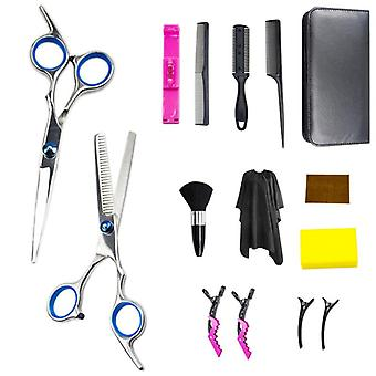 Haircut scissors straight snips thinning hairdressing barber tools lf29