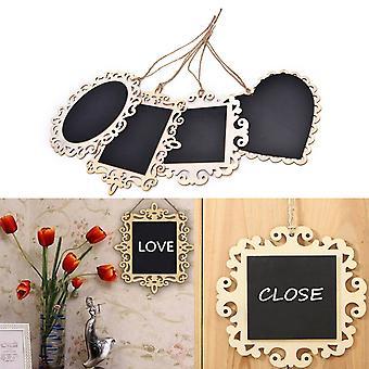 Hanging Mini Wood Blackboards, Chalkboards, Message Signs Boards For Wedding,