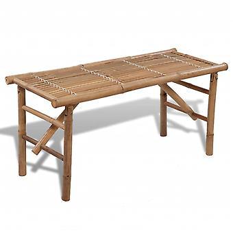 vidaXL Garden Bench Foldable 118 cm Bamboo