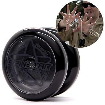FengChun YoyoFactory SPINSTAR Yo-Yo - SCHWARZ (Ideal fr Anfnger, Moderne Leistung YoYo, Freistil