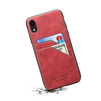 حقيبة جلدية مع فتحة بطاقة محفظة لأحمر Huawei P30lite