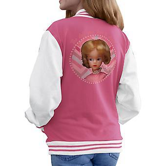 Sindy Pink Dress Men's Varsity Jacket