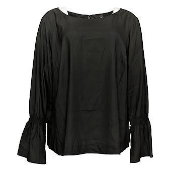 G.I.L.I. lo consiguió love it Women's Top Women's Woven Bell Slvs Black A292992