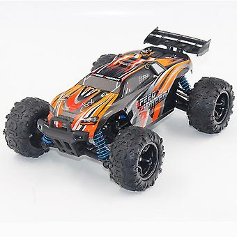 Four wheel drive remote control car 1:18 off road drifting children's electric toy RC model(Orange)