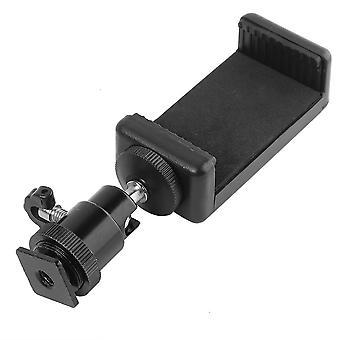 Universal Phone Clip Bracket Holder Mount 1/4 Screw Hot Shoe Phone Clip Tripod