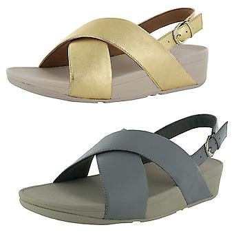 Fitflop Womens Lulu Cross Back Strap Sandal Cuir Chaussures