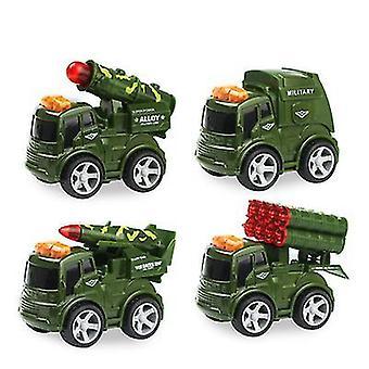 4Pcs سيارة عسكرية 8pcs/4pcs سيارة صغيرة سبائك الأطفال، سيارة عسكرية والدفاع سيارة نموذج سيارة az9266