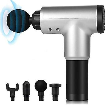 Us plug white electric fascia gun muscle relaxer neck massager home fitness impact massage gun az7445