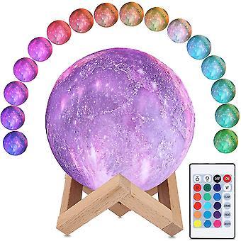 3D-kuulamppu16 väriä led kuuvalo 15cm halkaisijaltaan kosminen tähtitaivä yölamppu kauko-ohjaimella dt5960