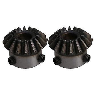 Pour 2pcs 45 # Acier 16 Dents 1.5 Module 8mm Diamètre trou Roue dent à engrenages ciques WS4405