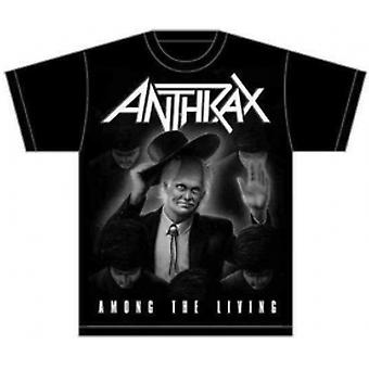 Anthrax Among The Living Mens Black T-Shirt: X-Large