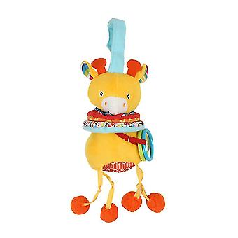 Deer Rattling Doll Cute Baby Hanging Toys With Music Bell For Children Soft Plush Rattle Toys Yellow