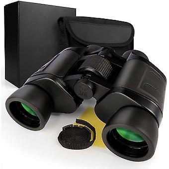 8x40 Kiikarit - kantolaudalla ja kiillotuskankaalla, aikuisten lintujen tarkkailukiikarilla, kompakti ja kevyt,(musta)