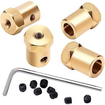 3Mm 4mm 5mm 6mm 7mm dc motor flexível acoplamento conector de acoplamento para rodas de carro eixo de pneus