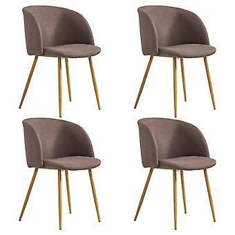 vidaXL dining chairs 4 pcs. brown fabric