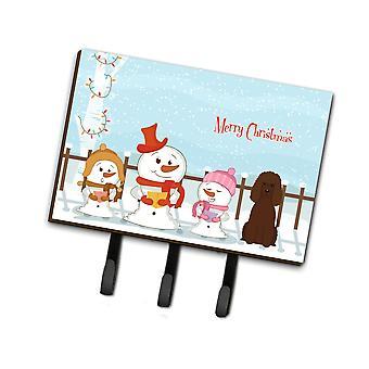 Caroline'S Treasures Merry Christmas Carolers Irish Water Spaniel Leash Or Key Holder Bb2394Th68, Triple, Multicolor