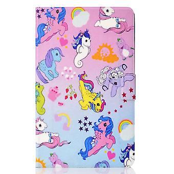 Case For Samsung Galaxy Tab A7 Cover With Auto Sleep/wake Pattern Magnetic - Horse