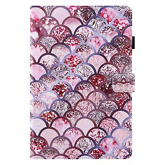Case For Samsung Galaxy Tab S6 Lite Cover Auto Sleep/wake Rotating Multi-angle Viewing Folio Stand - Pink Fish Scales