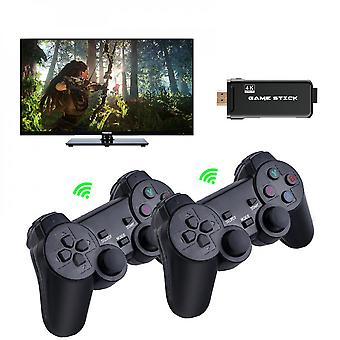 4k Game Stick 64gb 10000 Ps1 N64 Retro Video Game Console Dual Draadloze Controller