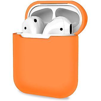 Beschermhoes, resistente hoes voor Apple AirPods 1, 2 - Oranje (oranje)