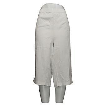 Denim &Co. Plus Leggings Pousse-pédale blanche A70851
