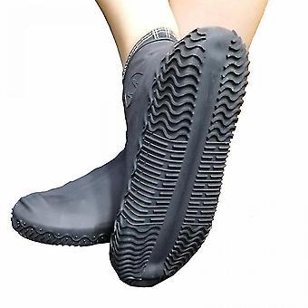 Tampa de sapato impermeável de silicone não-deslizante reutilizável (M)