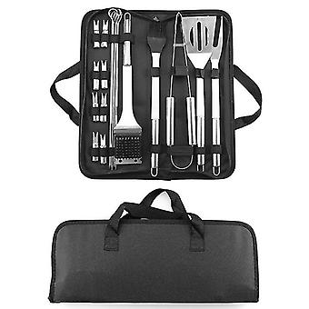 20pcs Barbecue Utensils, Stainless Steel Barbecue Kit  Tools Kitchen Sets Bbq Grill Accessories With