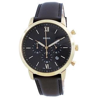 Fossil Neutra Chronograph Brown Dial Leather Quartz Fs5763 Men's Watch