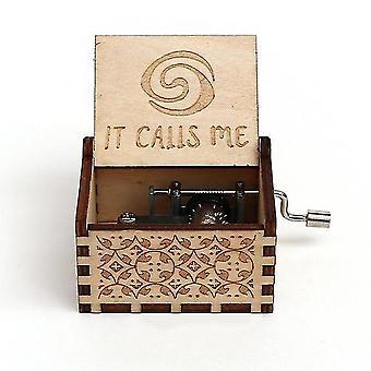 Moana Hand Kurbel geschnitzt Holz Musik Box - spielen Sie das Thema Song von Moana
