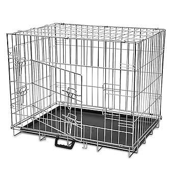 Sammenklappelig hund Cage Metal L