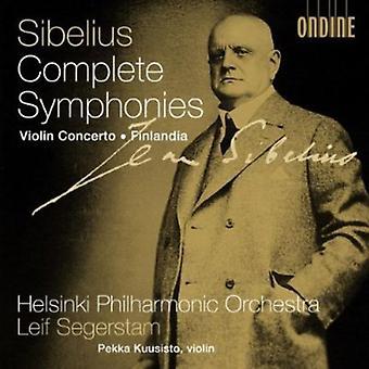 J. Sibelius - Sibelius: Complete Symphonies; Violin Concerto; Finlandia [CD] USA import
