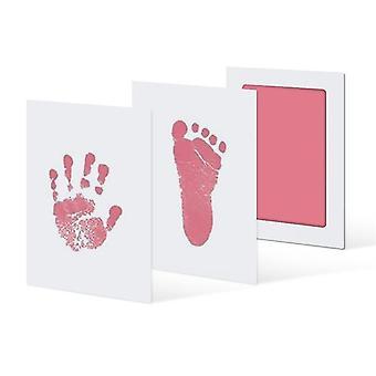 Kit de bricolaje de impresión de manos y pies para bebés y niños pequeños unisex (rosa)