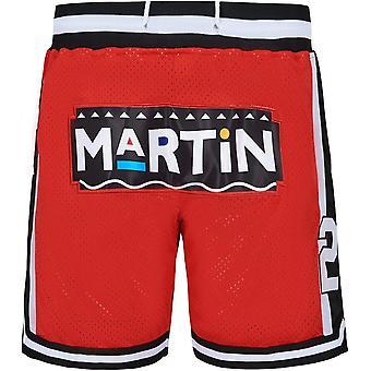 Men's Martin #23 Marty Mar Basketball Shorts 1992 Tv Show Basketball Short Casual Outdoor Sports Sandbeach Pants Size S-xxl