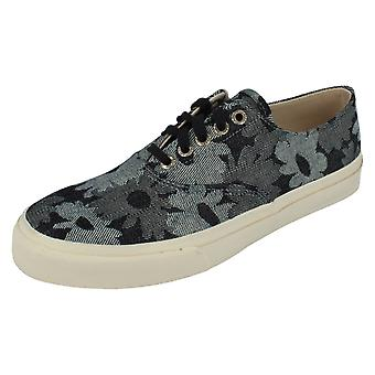Mens Sperry Topsiders Canvas Lace Up Shoes Cloud CVO