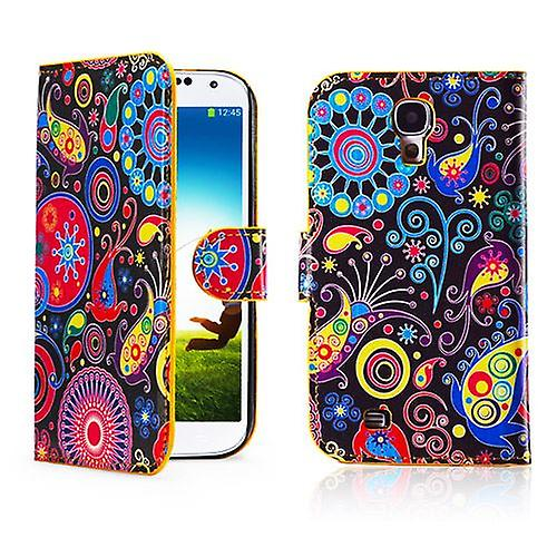 Design Book PU Leather Case Cover for Samsung Galaxy S4 i9500 - Jellyfish