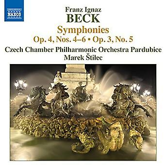 Beck / Tschechische Chamber Philharmonic Orch - Syms Op. 4 4-6 [CD] USA import