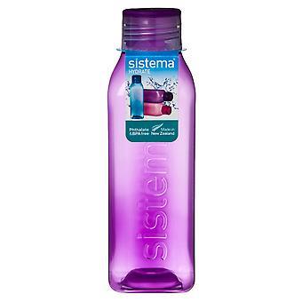 Hydrat Sistema 725ml kwadratowych picia butelka, fioletowy