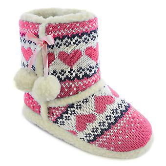 SlumberzzZ filles tricoté laine cheville Boot chaussons