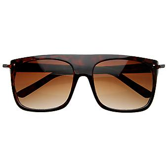 Vintage Inspired vlakke Top klassieke Retro Plastic Aviator zonnebril