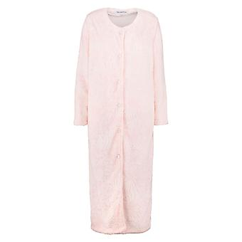 Slenderella HC7306 Women's Pink Floral Dressing Gown Robe Housecoat