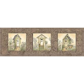 Outhouse Row Poster Print by Linda Spivey (18 x 6)