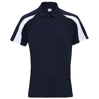 AWDis просто прохладно рубашки поло мужские короткие рукав контраст группа