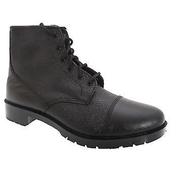 Grafters Mens Grain Leather 6 Eye Cadet Boots