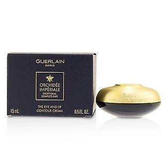 Guerlain Orchidee Imperiale استثنائية الرعاية الكاملة كريم كونتور العين والشفة-15 مل/0.5 أوقية
