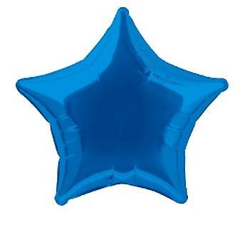 Foil Ballon étoile métallique solide Bleu Royal