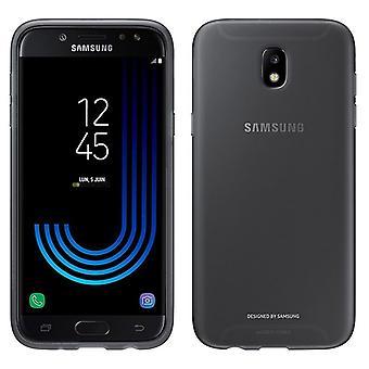 Samsung jelly dækning dække EF AJ730 for J7 2017 A730 ærme pose sag sort