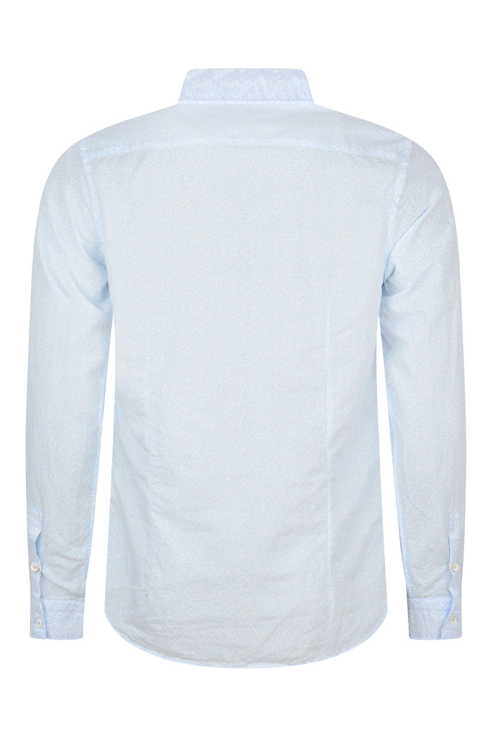 Fabio Giovanni Venosa Shirt - Herren hochwertige luxuriöse italienische Bettwäsche & Baumwolle mit Soft Cutaway blaues Hemd Kragen
